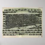 Haverhill Mass. 1915 Antique Panoramic Map Print