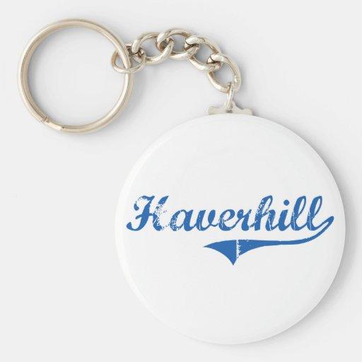 Haverhill New Hampshire Classic Design Basic Round Button Keychain