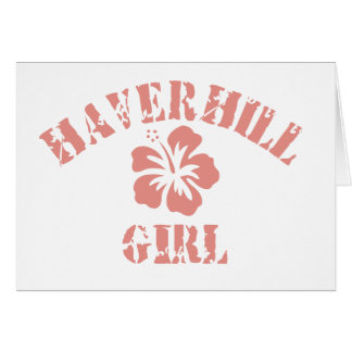 Haverhill Pink Girl Greeting Card