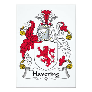 Havering Family Crest Card