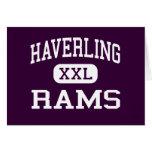Haverling - Rams - High School - Bath New York Greeting Card