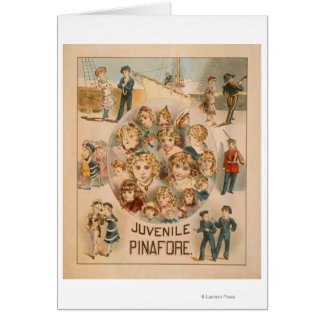 Haverly's New York Juvenile Pinafore Theatre 2 Card