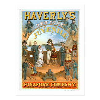 Haverly's New York Juvenile Pinafore Theatre Postcard