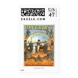 Haverly's New York Juvenile Pinafore Theatre Stamp