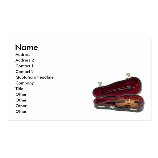 HaveViolinTravel081210, Name, Address 1, Addres... Double-Sided Standard Business Cards (Pack Of 100)