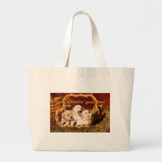 Havin' a Howlin' Good Time Jumbo Tote Bag