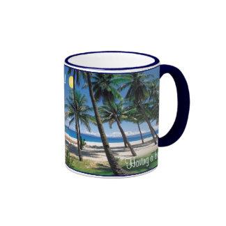 Having a bad day? Take a break.. be here! Ringer Coffee Mug