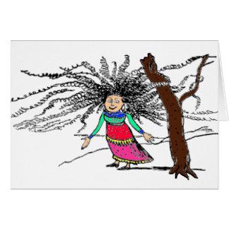 having a bad hair day? greeting card