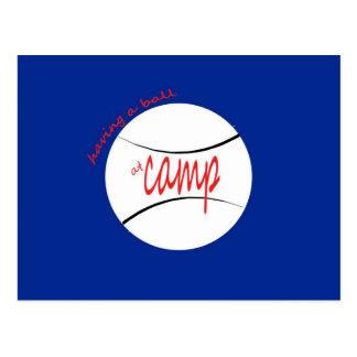 Having a Ball at Camp Post Card