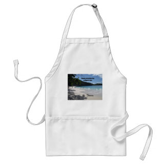 Having a beautiful day at Magen's Bay... Adult Apron