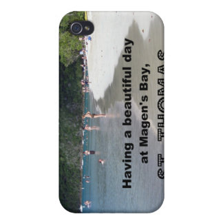 Having a beautiful day at Magen's Bay... Case For iPhone 4