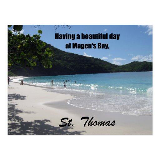 Having a beautiful day at Magen's Bay... Postcard