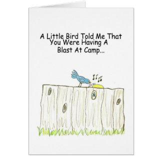 Having A Blast At Camp Greeting Card