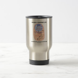 Having A Coherent Life Depends Protein Synthesis 15 Oz Stainless Steel Travel Mug