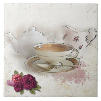 Having a Cuppa Tea Tile