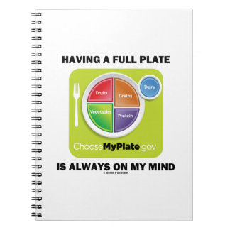 Having A Full Plate Always On My Mind Food Groups Notebook