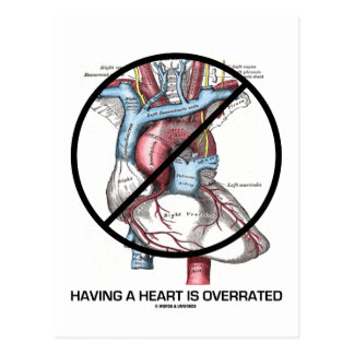 Having A Heart Is Overrated (Anti-Valentine's Day) Postcard
