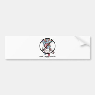 Having A Heart Is Overrated (Cross-Out Heart) Bumper Stickers