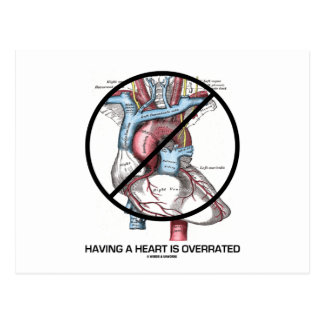Having A Heart Is Overrated (Cross-Out Heart) Postcard