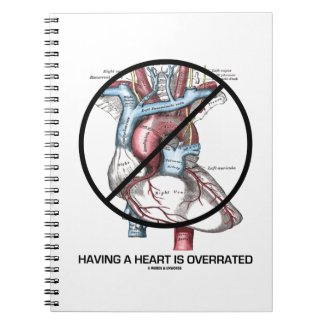 Having A Heart Is Overrated (Heart Cross-Out) Journal