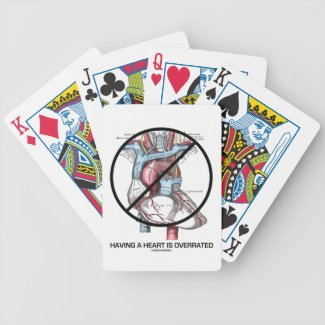 Having A Heart Is Overrated (Heart Cross-Out) Playing Cards