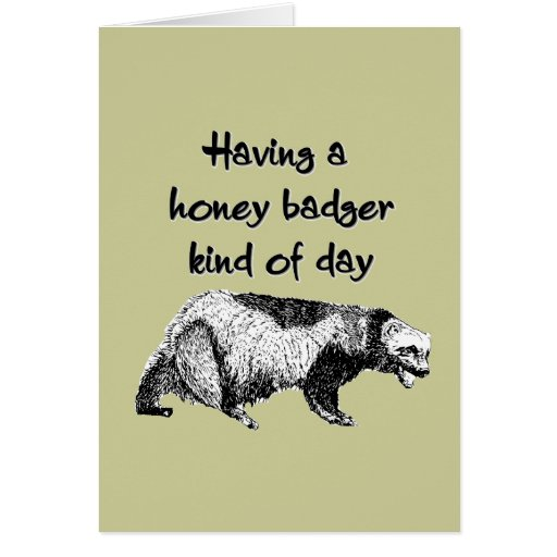 Having a honey badger kind of day stationery note card