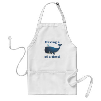 Having a Whale of a time! Adult Apron