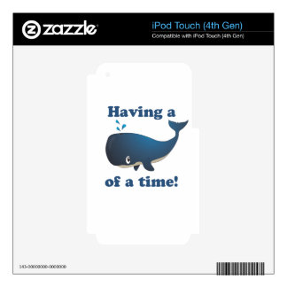 Having a Whale of a time! iPod Touch 4G Decals