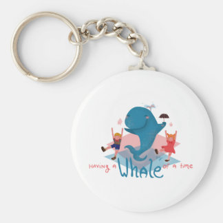 Having a whale of a time keychain