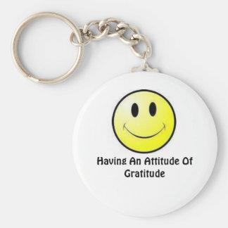 Having An Attitude Of Gratitude Keychain