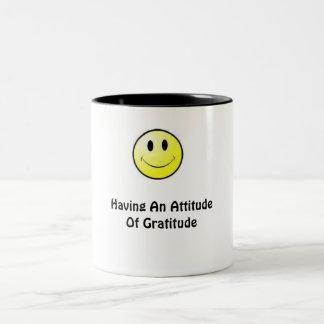 Having An Attitude Of Gratitude Two-Tone Coffee Mug