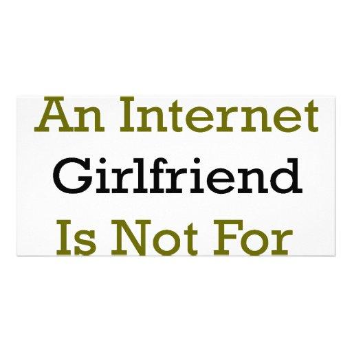 Having An Internet Girlfriend Is Not For Geeks Photo Card