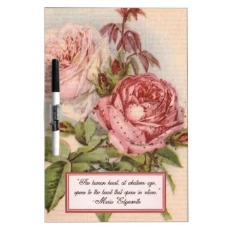 Having an Open Heart: Victorian Pink Roses Print Dry-Erase Boards