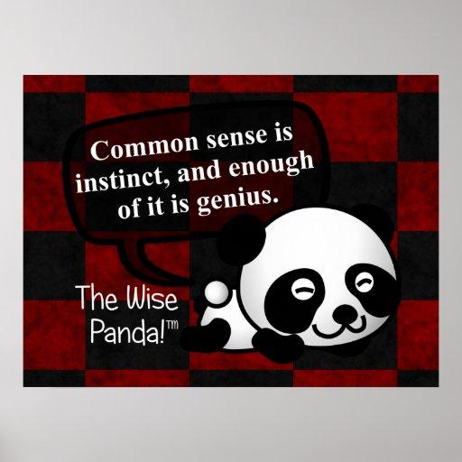 Having common sense makes you a genius print