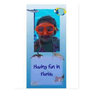 Having fun in Florida Postcard