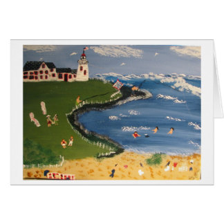 Having Fun on a Hot Summer Day Stationery Note Card