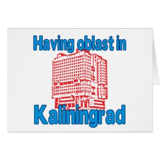 Having Oblast in Kaliningrad Greeting Cards