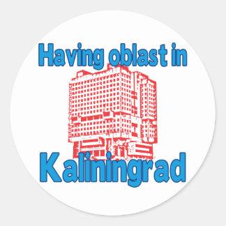 Having Oblast in Kaliningrad Classic Round Sticker