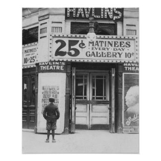 Havlin's Theatre, 1910. Vintage Photo Poster
