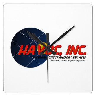 HAVOC, INC. Official Logo Clock