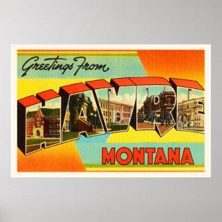 Havre Montana MT Old Vintage Travel Souvenir Poster