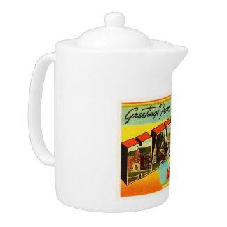 Havre Montana MT Old Vintage Travel Souvenir Teapot