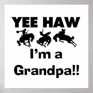 Haw de Yee soy camisetas y regalos de un abuelo Póster