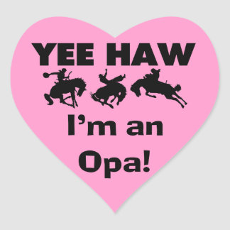 Haw de Yee soy camisetas y regalos de un Opa Pegatina En Forma De Corazón
