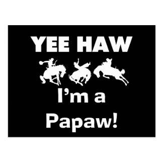 Haw de Yee soy camisetas y regalos de un Papaw Tarjetas Postales