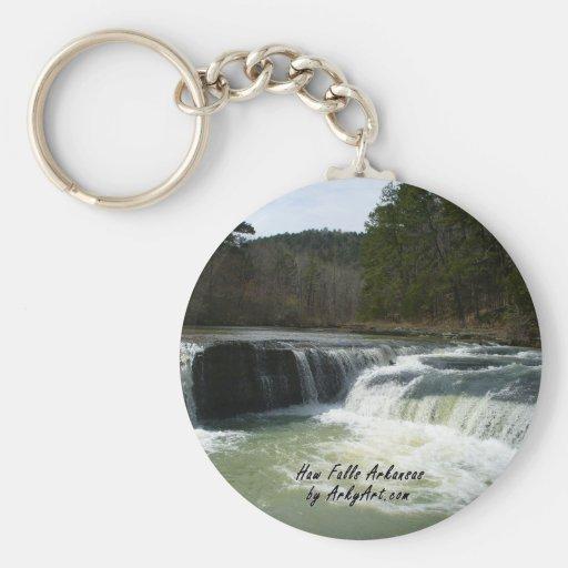 Haw Falls 1 Basic Round Button Keychain
