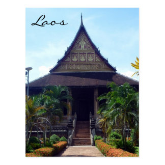 haw phra kaew loas postcard
