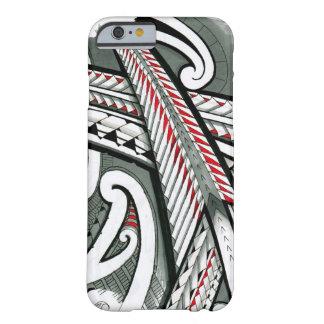 hawai gris rojo de la isla del diseño del tatuaje funda de iPhone 6 barely there