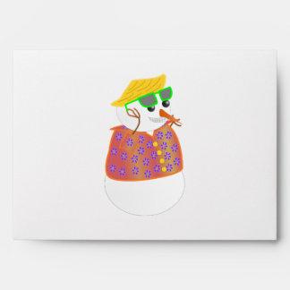Hawai Snowman Envelopes