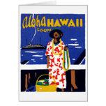 Hawaiana 1920 de Hawaii Felicitación